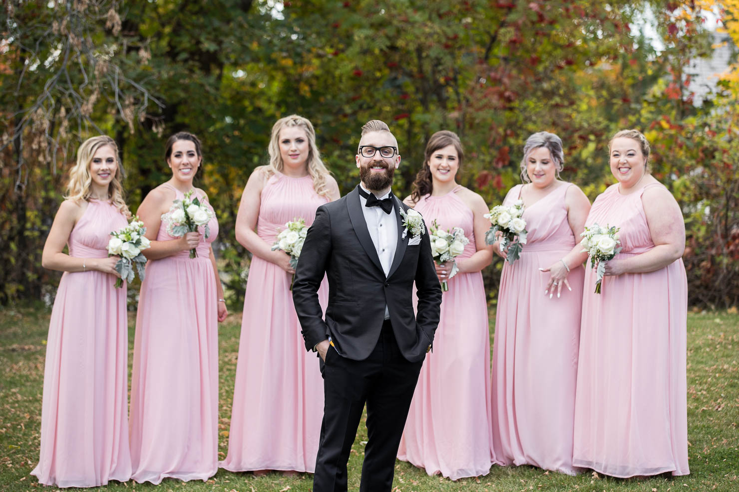 wedding, groom, bridesmaids, wedding, sudbury wedding, akaiserphoto, wedding photographer